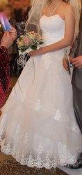 Искрящееся свадебное платье
